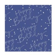 Blue Happy Birthday Roll Wrap - 2m